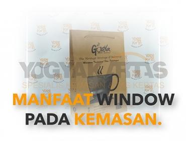 manfaat window kemasan